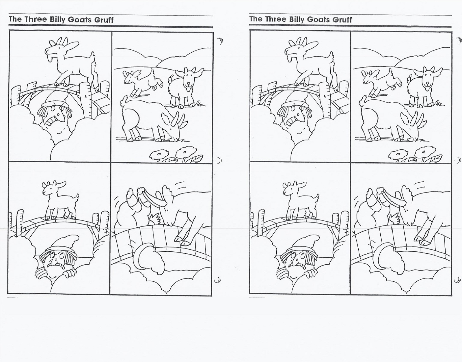 3 Billy Goats Gruff Activities Printable