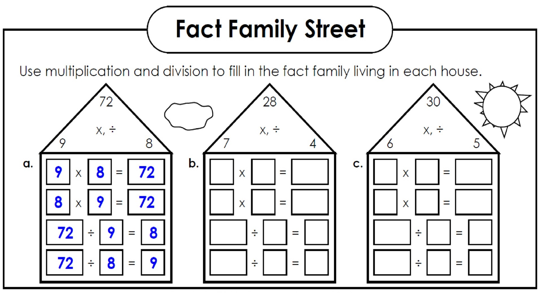 Family Facts Worksheets For Kid