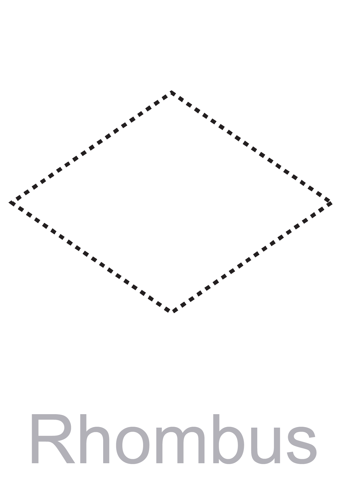 Pictures Of Rhombus Shapes Blank