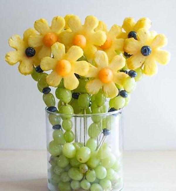 情人節水果花拼盤,花小錢也能讓愛人心花怒放