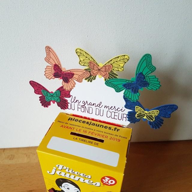 pièces jaunes papillons