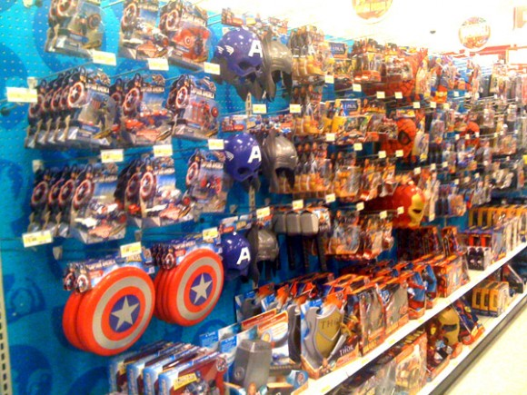 The Avengers in the Toy Aisle!
