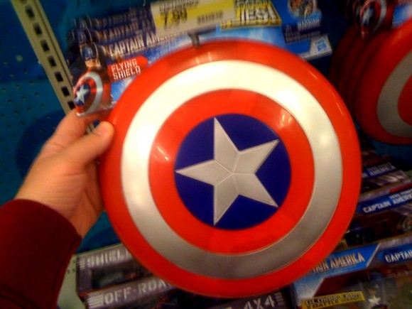 Captain America Movie Throwing Shield