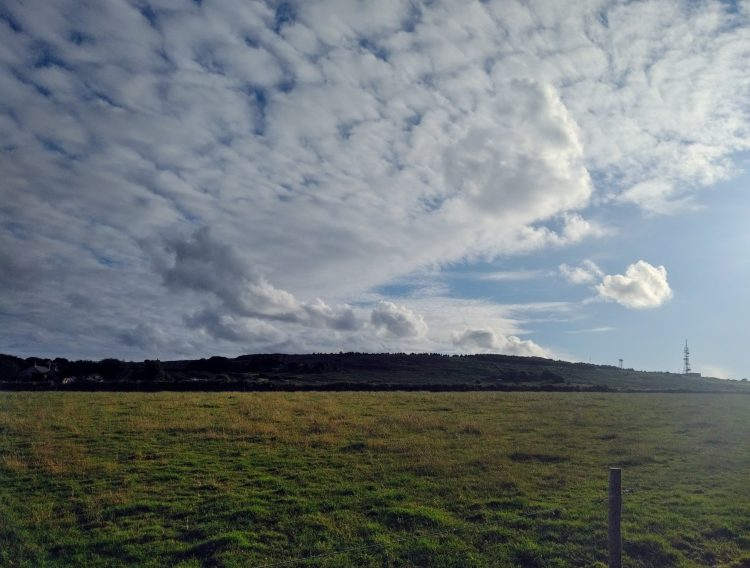 Hill Bagging in Cornwall: View of Carnmenellis hill near Redruth, one of Cornwall's 5 Marilyn hills. Copyright Stephanie Boon, 2018. All rights reserved.