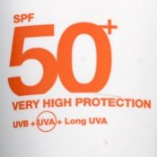Factor 50 sun cream - tube detail (Ambre Soilaire)
