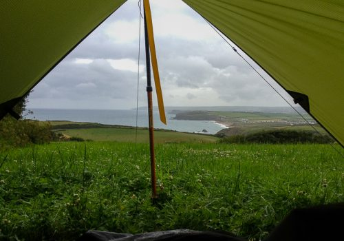 Camping on the South West Coast Path, Cornwall, UK. Copyright Stephanie Boon, 2018. All Rights Reserved.