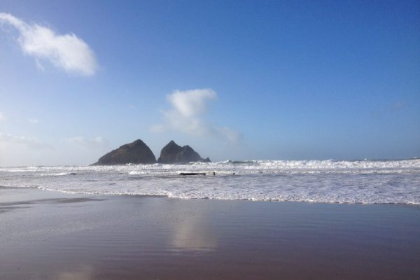 Holywell Bay, South West Coast Path, Cornwall. Copyright Stephanie Boon, 207. All Rights Reserved.