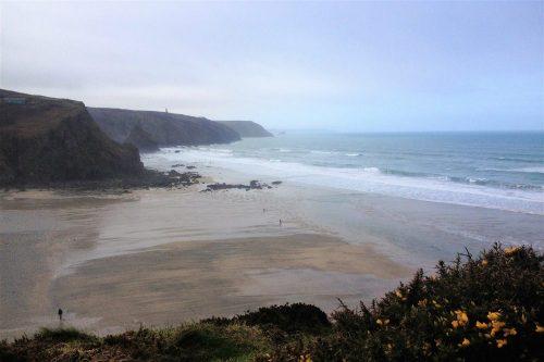 Porthtowan Beach 2018, looking towards Portreath,, South West Coast Path, Cornwall, UK. Copyright Stephanie Boon, 2018. All Rights Reserved.