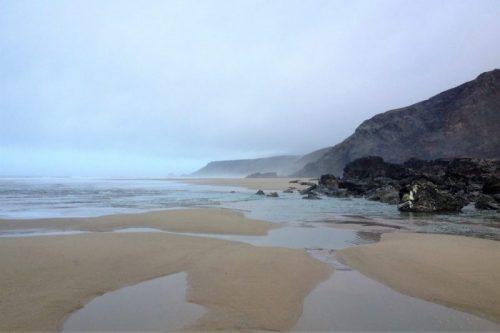 Porthtowan Beach 2018, looking towards Chapel Porth, South West Coast Path, Cornwall, UK. Copyright Stephanie Boon, 2018. All Rights Reserved.