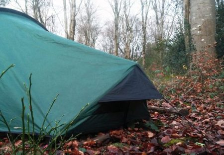 Tent. Wild camping in the woods. Copyright Stephanie Boon, 2018
