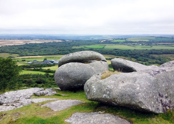 Distant view from the top of Helman Tor on The Saint's Way