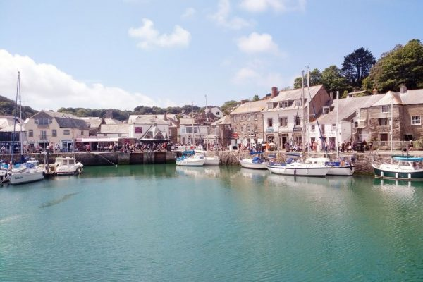 Padstow Harbour on a sunny day