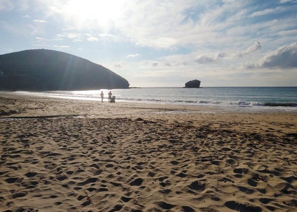 Portreath at the end of the Bissoe Coast to Coast Trail which begins near Truro, Cornwall