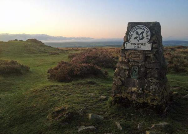 Winsford Hill trig point, Exmoor, Somerset