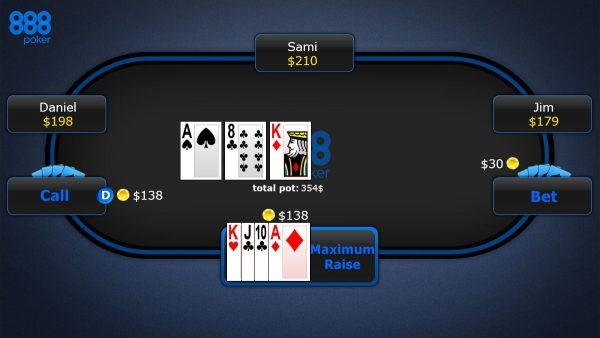 888 poker Omaha Hi