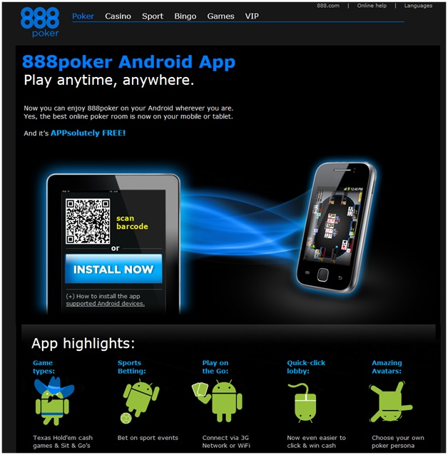 888 poker app