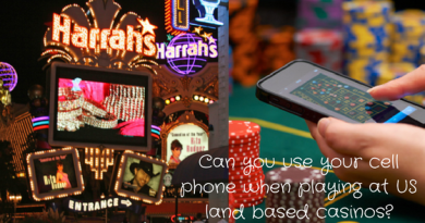 Can you use your cell phone when playing at US land based casinos?