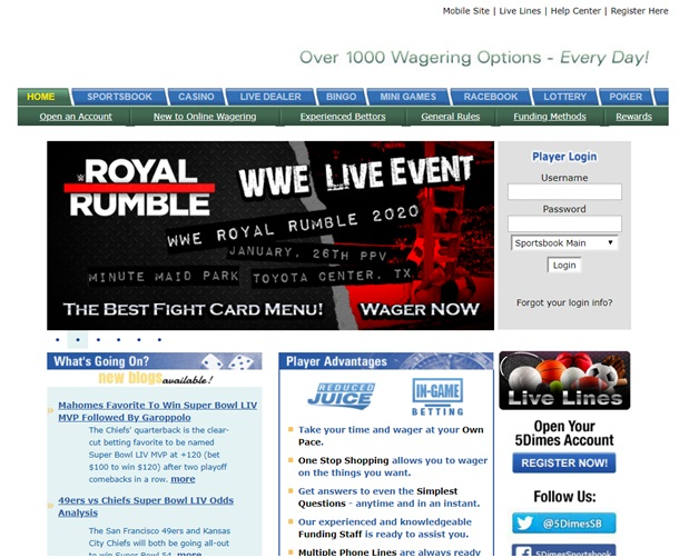 Guide to 10 mobile sports betting bookies- 5 Dime