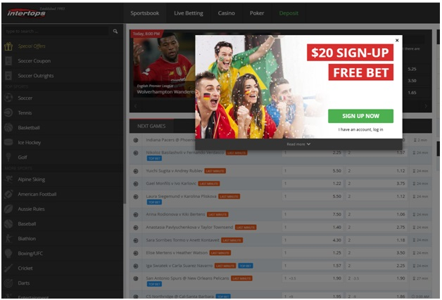 Guide to 10 mobile sports betting bookies- Intertops