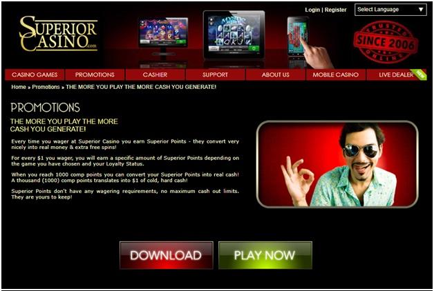 Superior casino bonus
