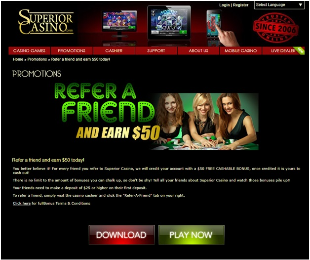 Superior casino refer a friend bonus