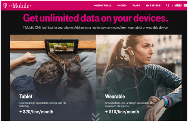 T Mobile -Prepaid plans for 2018