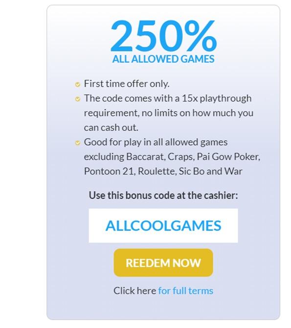 Table games at US online casinos- Bonus offers