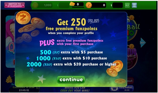 play at Funzpoints Casino to win real cash- free points