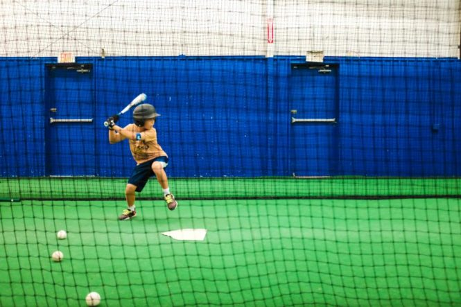 At the Batting Cages