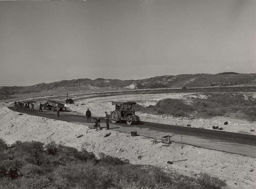 Aanleg van het Circuit van Zandvoort in 1948 Formule 1 Zandvoort