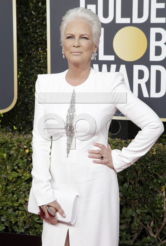 Jamie Lee Curtis arrives for the 76th annual Golden Globe Awards ceremony at the Beverly Hilton Hotel, in Beverly Hills, California, USA, 06 January 2019. EPA-EFE/MIKE NELSON