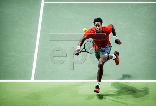 Gael Monfils (FRANCE) during the semi-final against Daniil Medvedev (RUSSIA) at the ABN AMRO World Tennis Tournament in Rotterdam, The Netherlands, 16 February 2019. EPA-EFE/KOEN VAN WEEL
