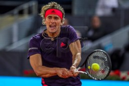 Germany's Alexander Zverev in action during his match against Spain's David Ferrer at the Mutua Madrid Open tennis tournament, in Madrid, Spain, 08 May 2019. EPA-EFE/JUANJO MARTIN
