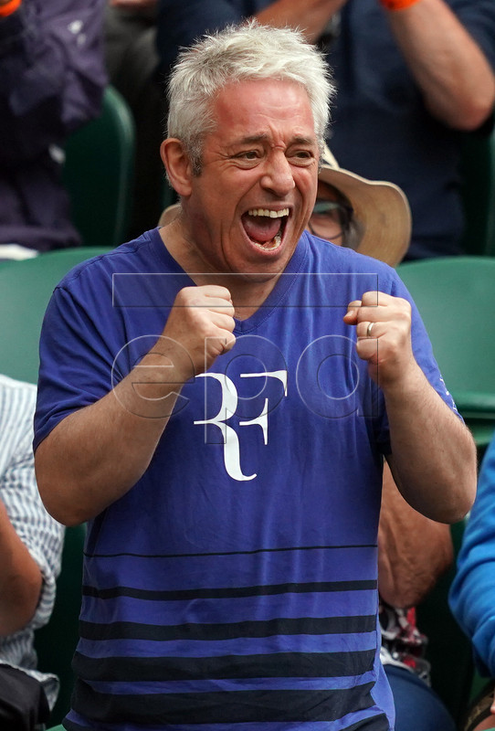 Speaker of the House of Commons John Bercow on Centre Court during the Wimbledon Championships at the All England Lawn Tennis Club, in London, Britain, 06 July 2019. EPA-EFE/WILL OLIVER EDITORIAL USE ONLY/NO COMMERCIAL SALES