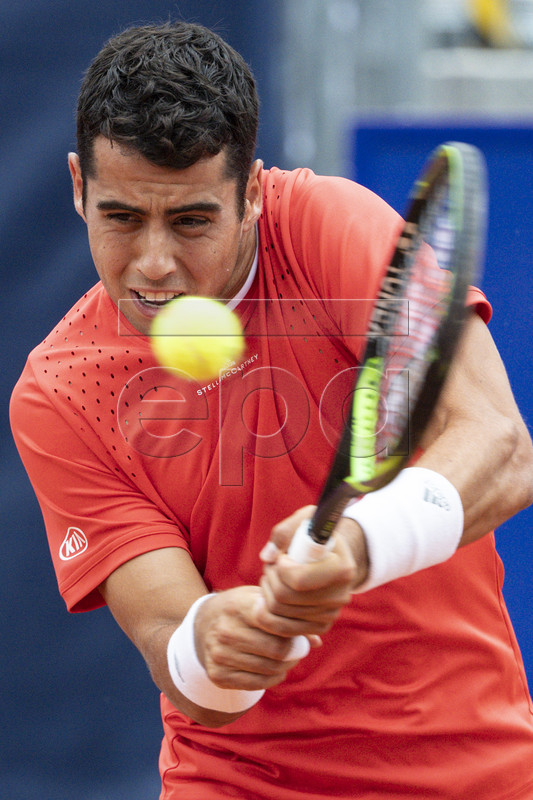Jaume Manur of Spain in action against Roberto Bautista Agut of Spain during a second round game at the Swiss Open tennis tournament in Gstaad, Switzerland, Thursday, July 25, 2019. EPA-EFE/PETER SCHNEIDER