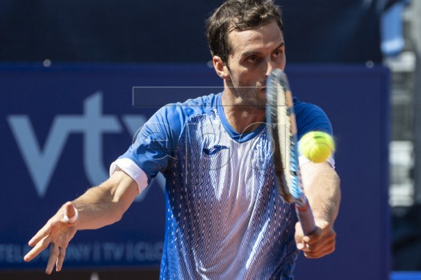 Albert Ramos-Vinolas of Spain in action during his quarter final match against Roberto Carballes Baena of Spain at the Swiss Open tennis tournament in Gstaad, Switzerland, on Friday, July 26, 2019. EPA-EFE/PETER SCHNEIDER
