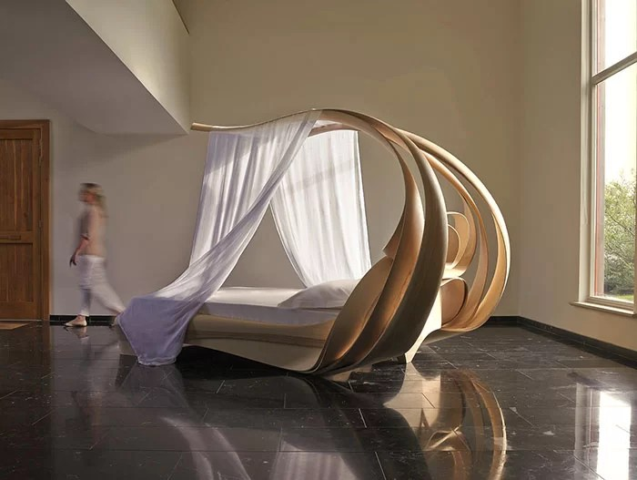 A look at the futuristic furniture design of Joseph Walsh Studio     Enignum VI Canopy Bed unique furniture design by Joseph Walsh Studio