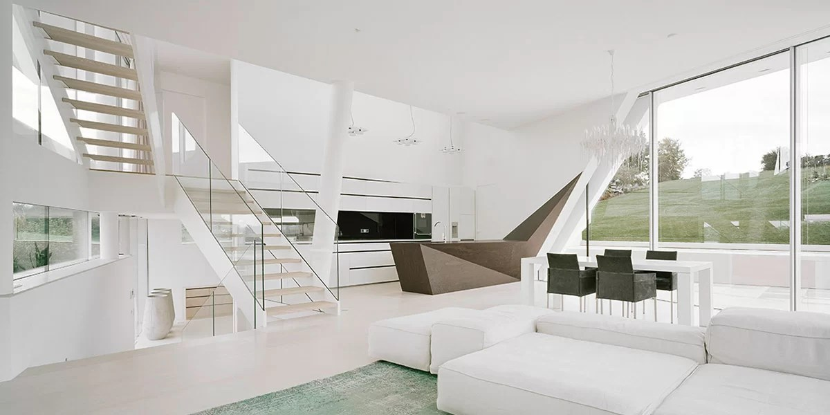 Freundorf Residence Futuristic All White House Near Vienna Austria By Project A01 Architects