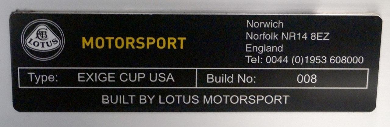 Lotus Exige V6 Cup USA