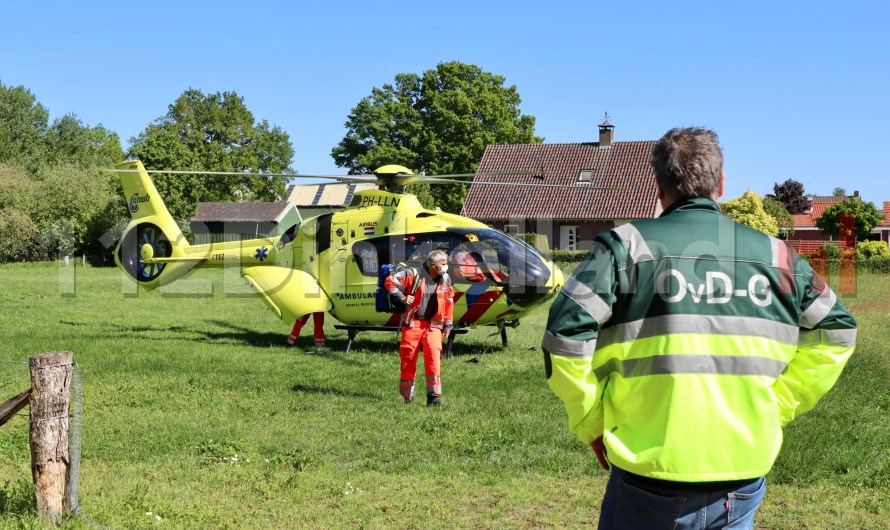 Traumahelikopter landt in weiland Weerselo