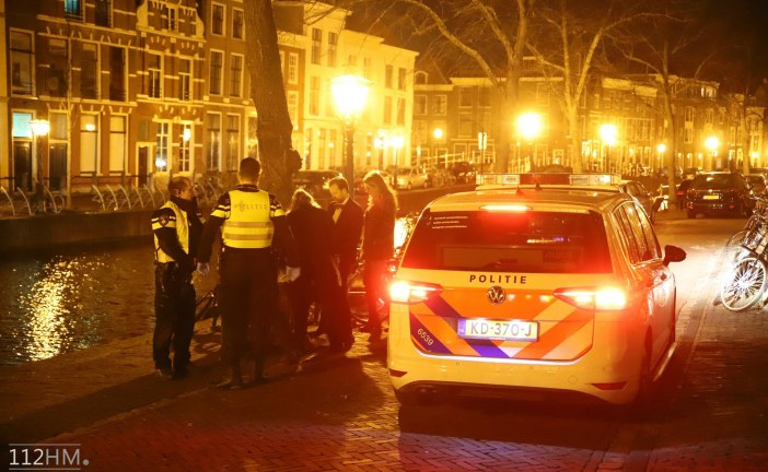 Man in been gestoken, Steenschuur Leiden
