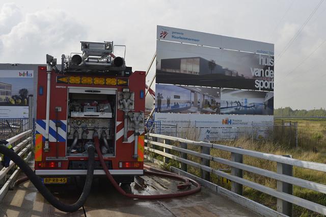 Hoofddorp: Grote brand Huis van de Sport