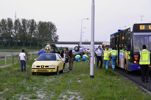 Hoofddorp: Drie gewonden bij ongeval A4