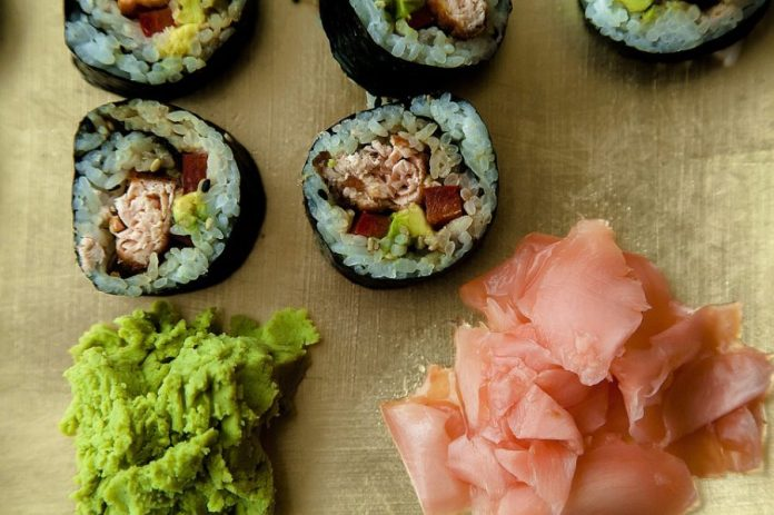 Eat to Alleviate Mood Swings - Traditional Seafood Sushi Asian