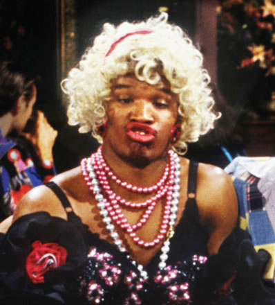 Why do men cheat with ugly women? Jamie Fox and Wanda in a blonde wig