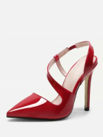 red pumps Strap Point Toe Heels