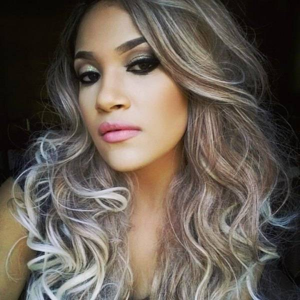 gray hair with brown highlights wig from rose wholesale