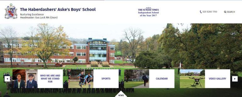 Haberdashers Askes Boys School Elstree Home page
