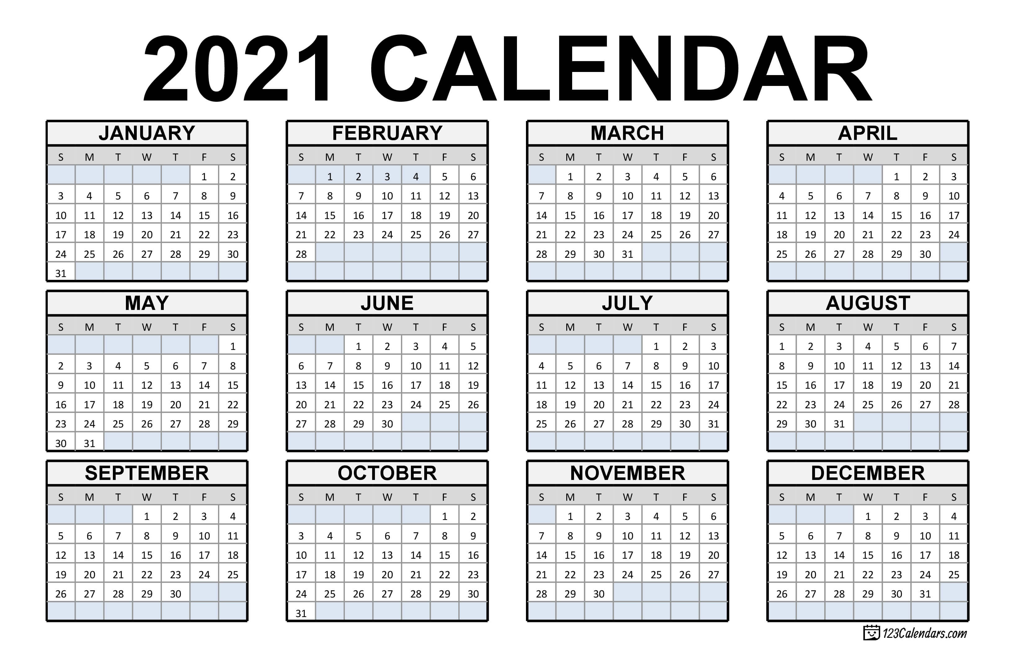 The free 2021 monthly blank calendar template features the space for notes, and it can be used as a menu planner or kitchen calendar. Free Download Canadian 2021 Calendar / 2021 Calendar With ...