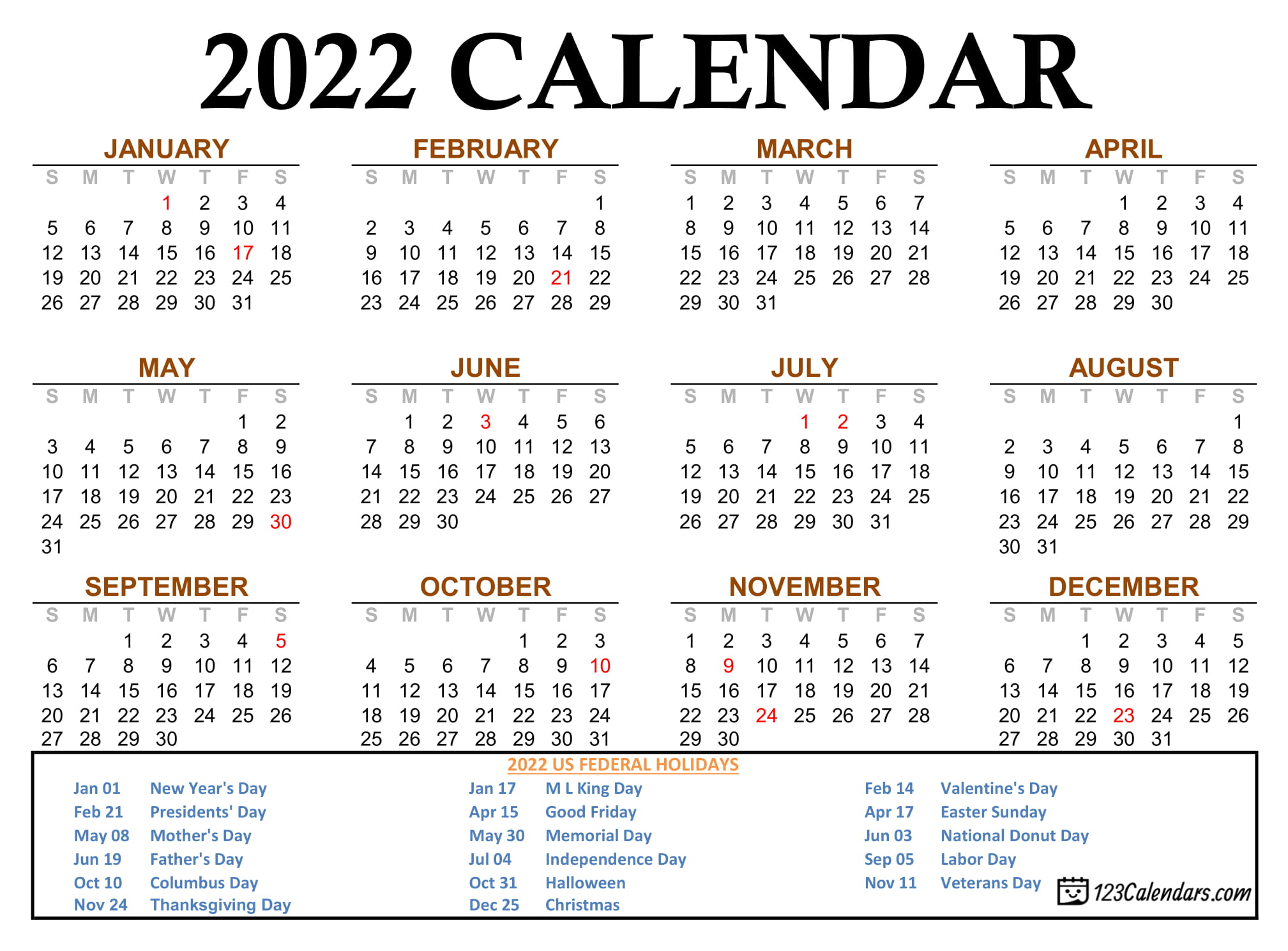 We are proud to offer a variety of seminars and programs that are pertinent to the varied work we do. Year 2022 Calendar Templates | 123Calendars.com